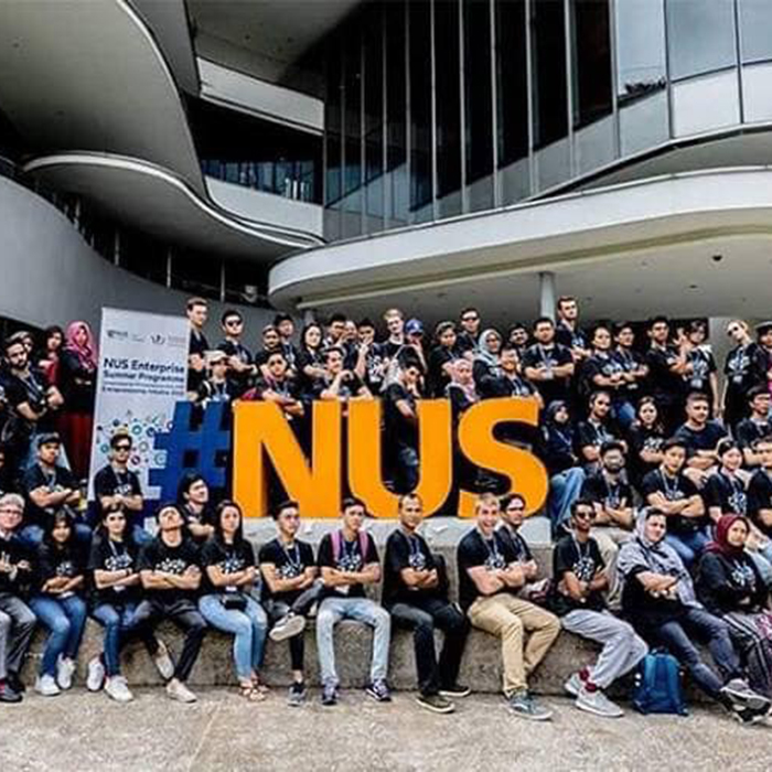 Tayyaba as an Entrepreneurial Ambassador at NUS